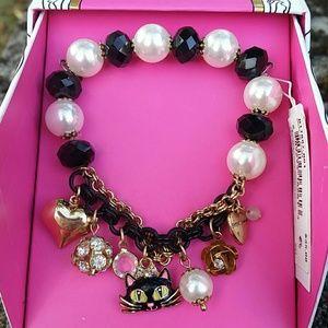 Betsey Johnson Cat Charm Bracelet